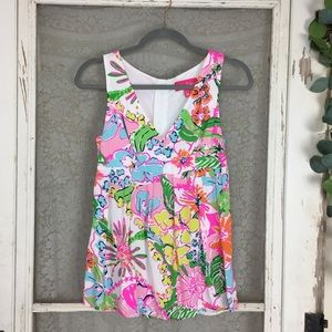 Lilly Pulitzer Target Nosey Posey Tank Top XS (Q5)
